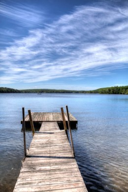 A dock on Manchaug Pond