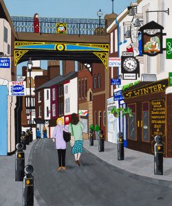 Art print of Manchester's underbank by lucy burgess