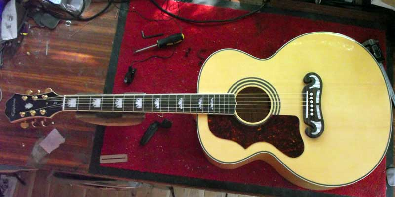 Epiphone EJ-200 to Left-hand conversion