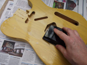 Wet sanding the front of the body