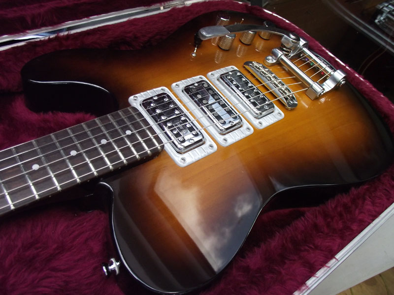 Telecaster style guitar with 3 TV Jones pickups