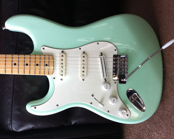 Surf Green Stratocaster finished
