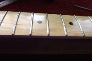 Showing the rounded fret ends