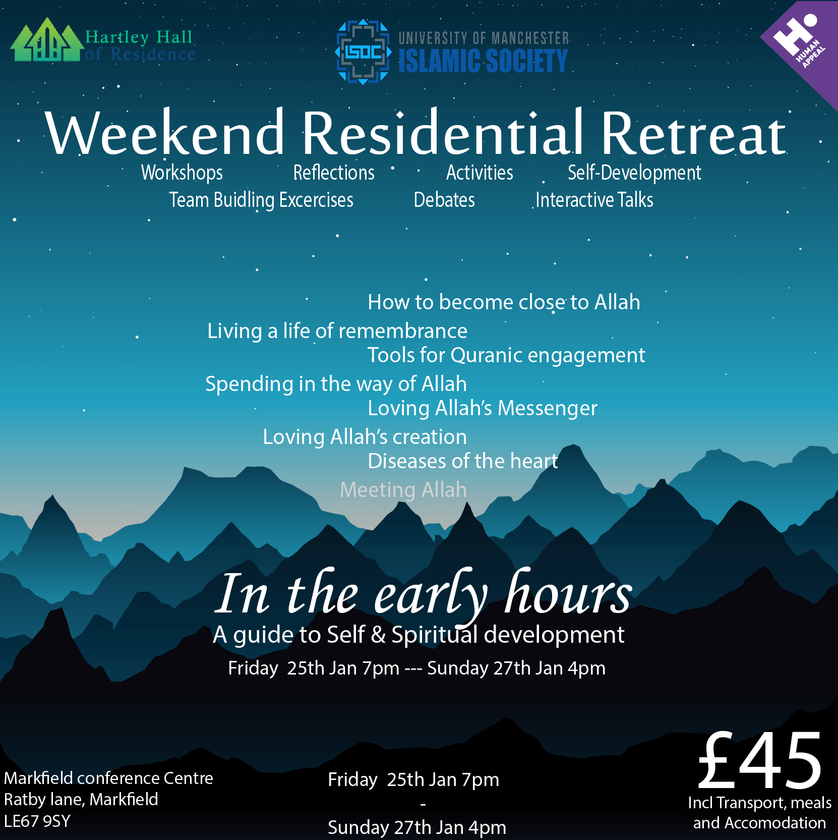ISoc 'In the early hours' Retreat Tickets