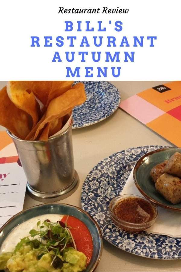 Bill's Restaurant Autumn Menu Pinterest