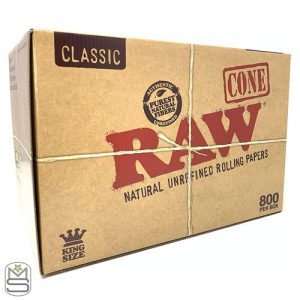 RAW King Size Pre-Rolled Cones – 800 Pack