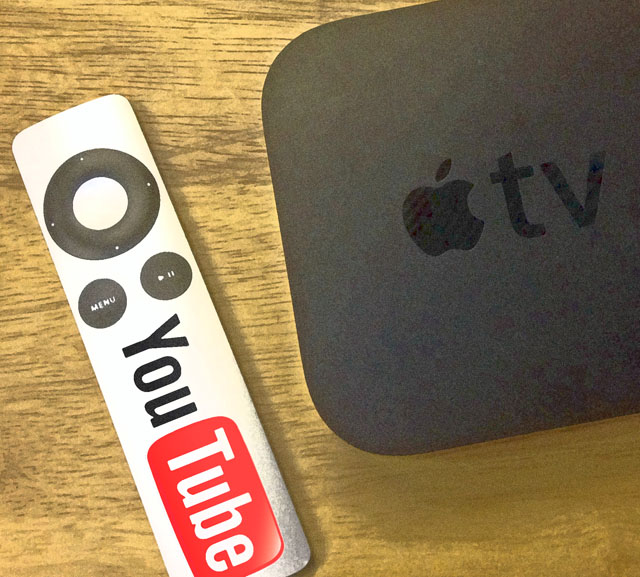 Apple TV with YouTube logo