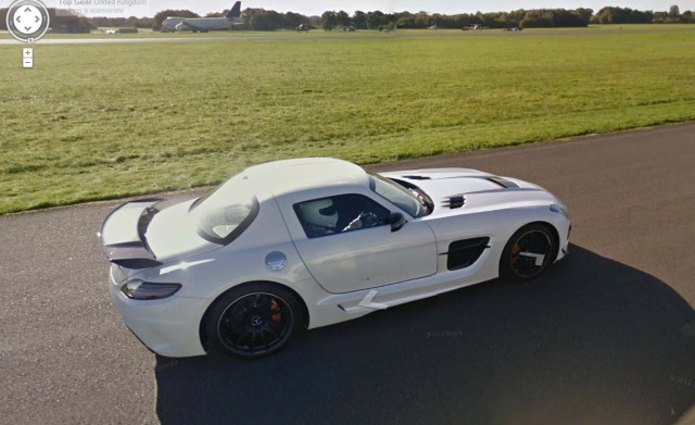 Shows The Stig in SLS Black Top Gear Track