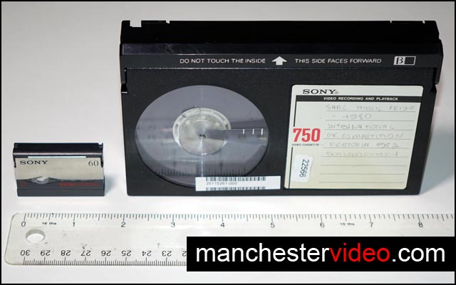 MICROMV AND BETAMAX TAPE SIDE BY SIDE