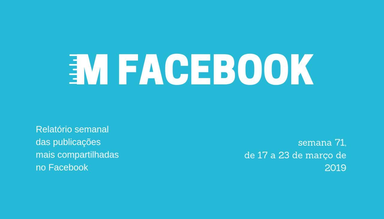 Entre os dias 17 e 23 de março de 2019, as 158 páginas que monitoramos publicaram 8.011 posts, que geraram 7.198.626 compartilhamentos.