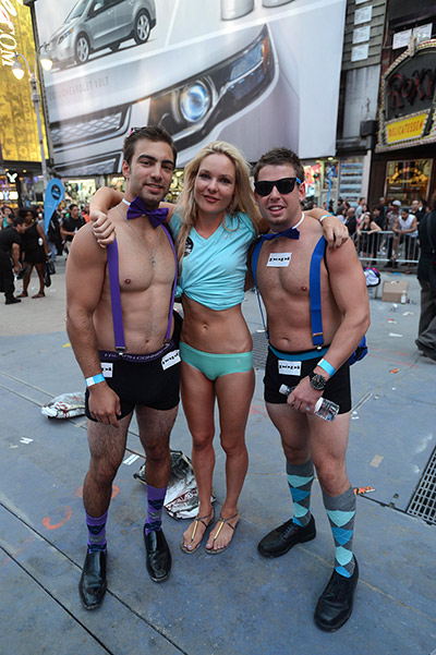 National Underwear Day Times Square - Freshpair