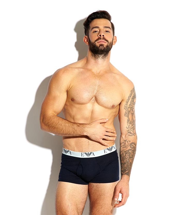 charlie king towie in emporio armani boxers underwear
