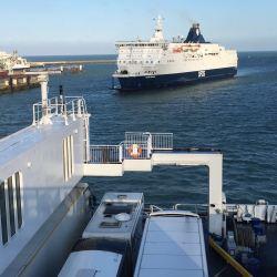 Ferry heading towards Maltern Motohome Show
