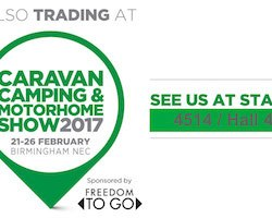 Visit us at the Caravan Camping & Motorhome Show 2017 at the NEC in Birmingham