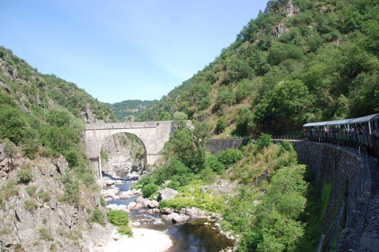 Historic steam train ride on train de l'Ardèche