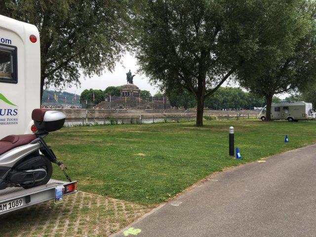 MandA Tours arrived at campsite in Koblenz
