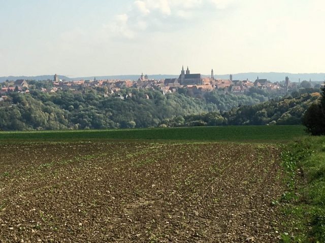 View of Rothenburg ob der Tauber during escorted motorhome tour