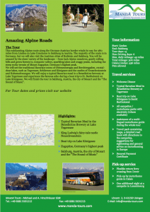 First Page Amazing Alpine Roads 2019 Tour Flyer