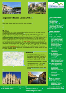 First Page Impressive Italian Lakes & Cities 2019 Tour Flyer