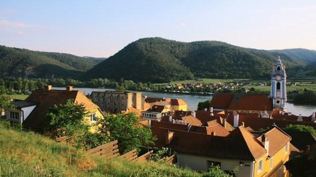 View to Camping Dürnstein