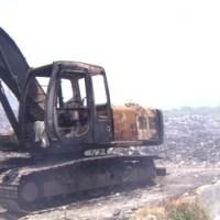 Beko Terbakar di Pembuangan Sampah