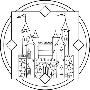 Ritter Und Ritterburgen Mandala Vorlagen Fr Kinder
