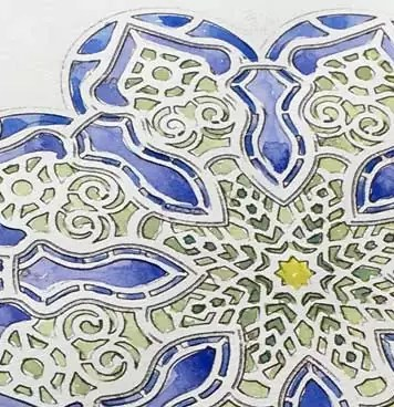 mandala difficile rosone close up