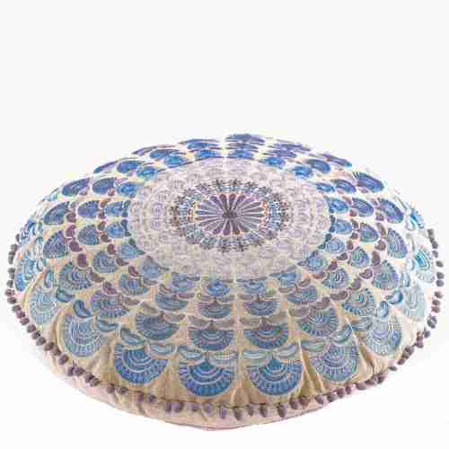 Bohemian Floor Pillow Blue 4