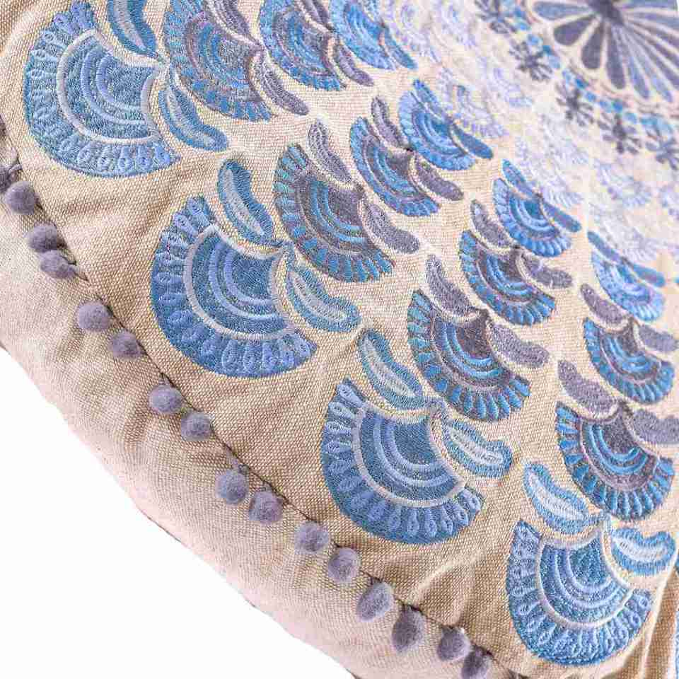 Bohemian Floor Pillow Blue 5
