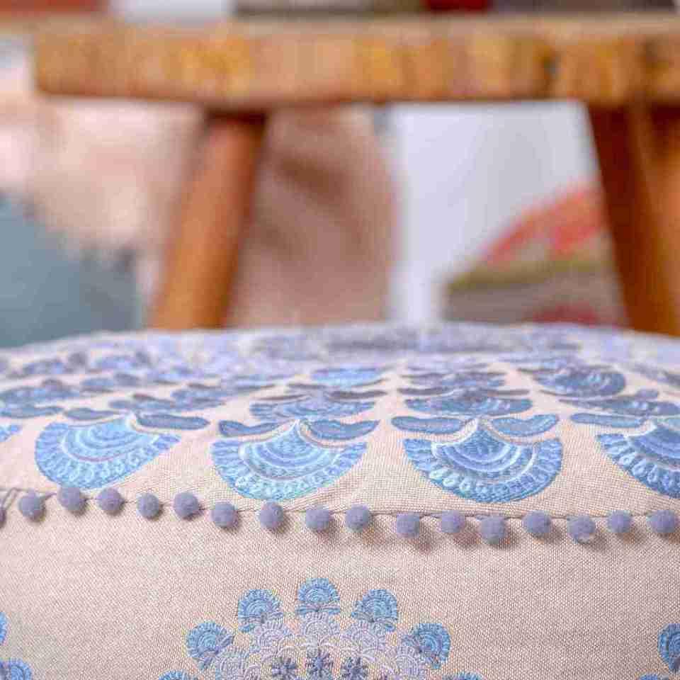 Bohemian Floor Pillow Blue 9