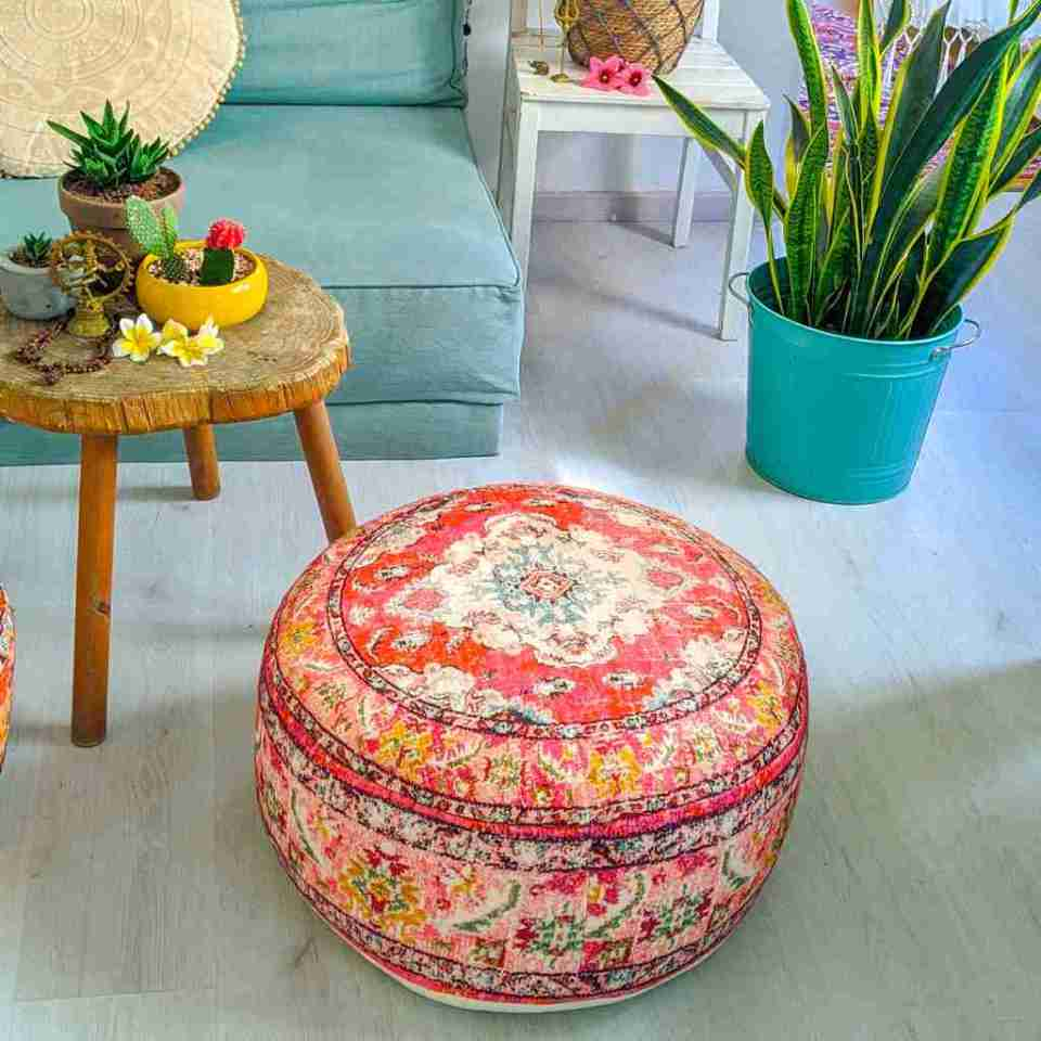 Round Floor Cushion Rug Carpet Print 4