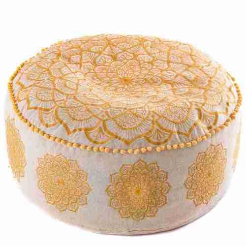 gold mandala pouf 5