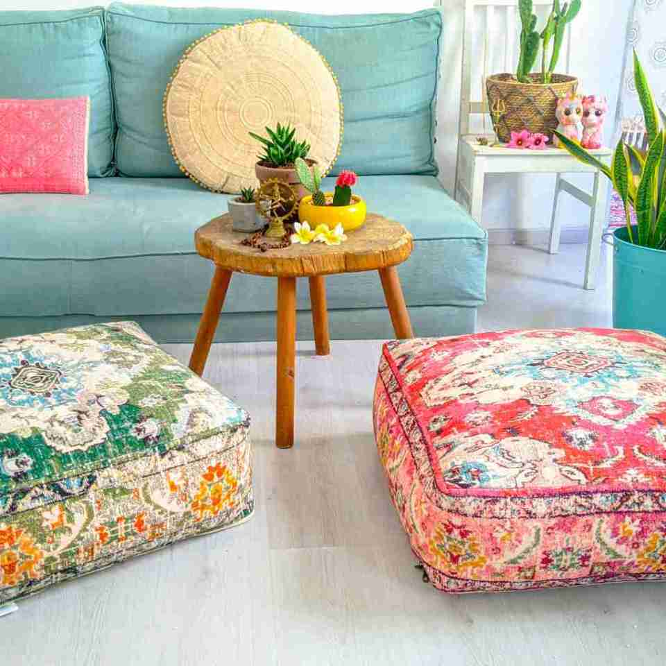 Blhemian Pouf Floor Pillow Cushion 1
