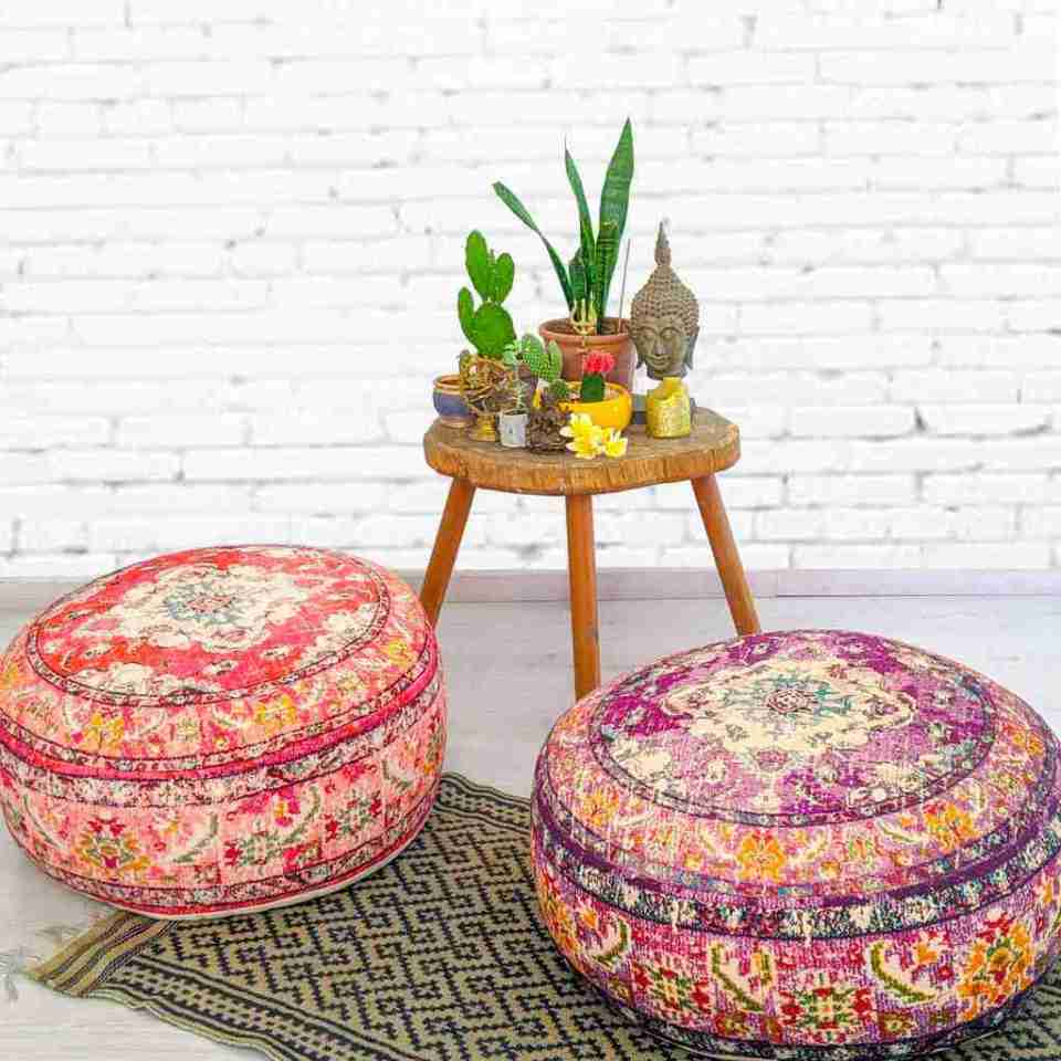 Blhemian Pouf Floor Pillow Cushion 15