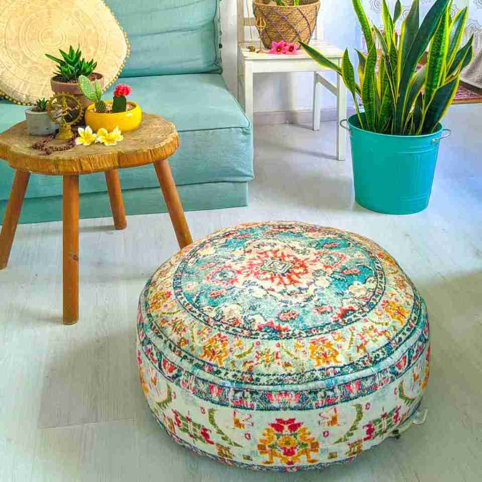 Blhemian Pouf Floor Pillow Cushion 4