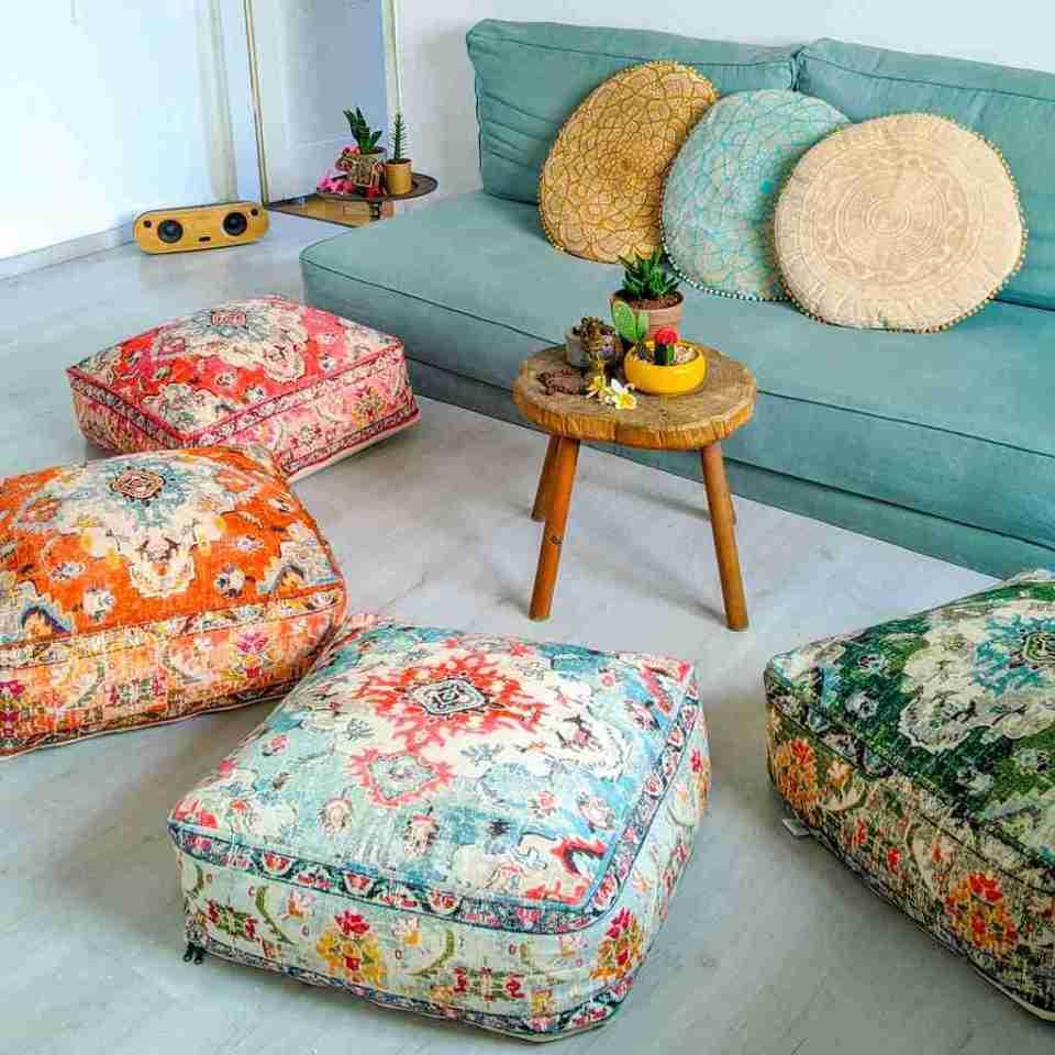 Blhemian Pouf Floor Pillow Cushion 8