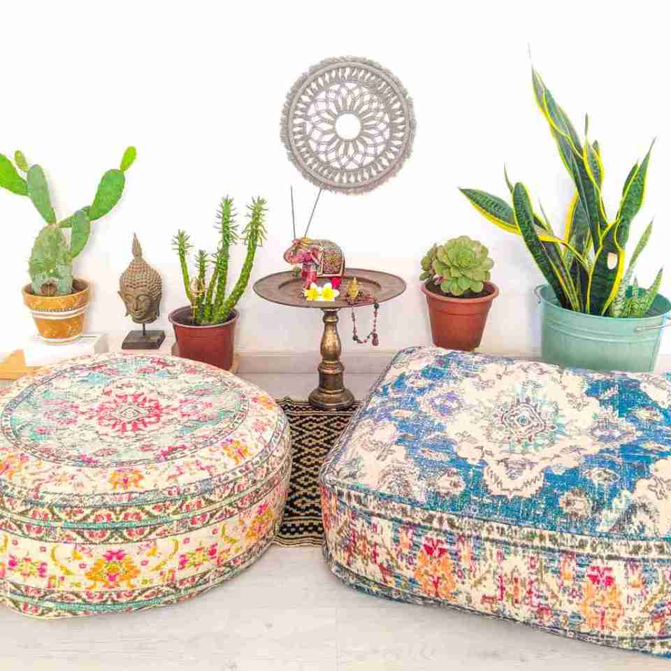 Bohemian Decor Floor Cushion Pouf Carpet Floor Pillow Boho Chic Large Living Room Bedroom chidren room 35