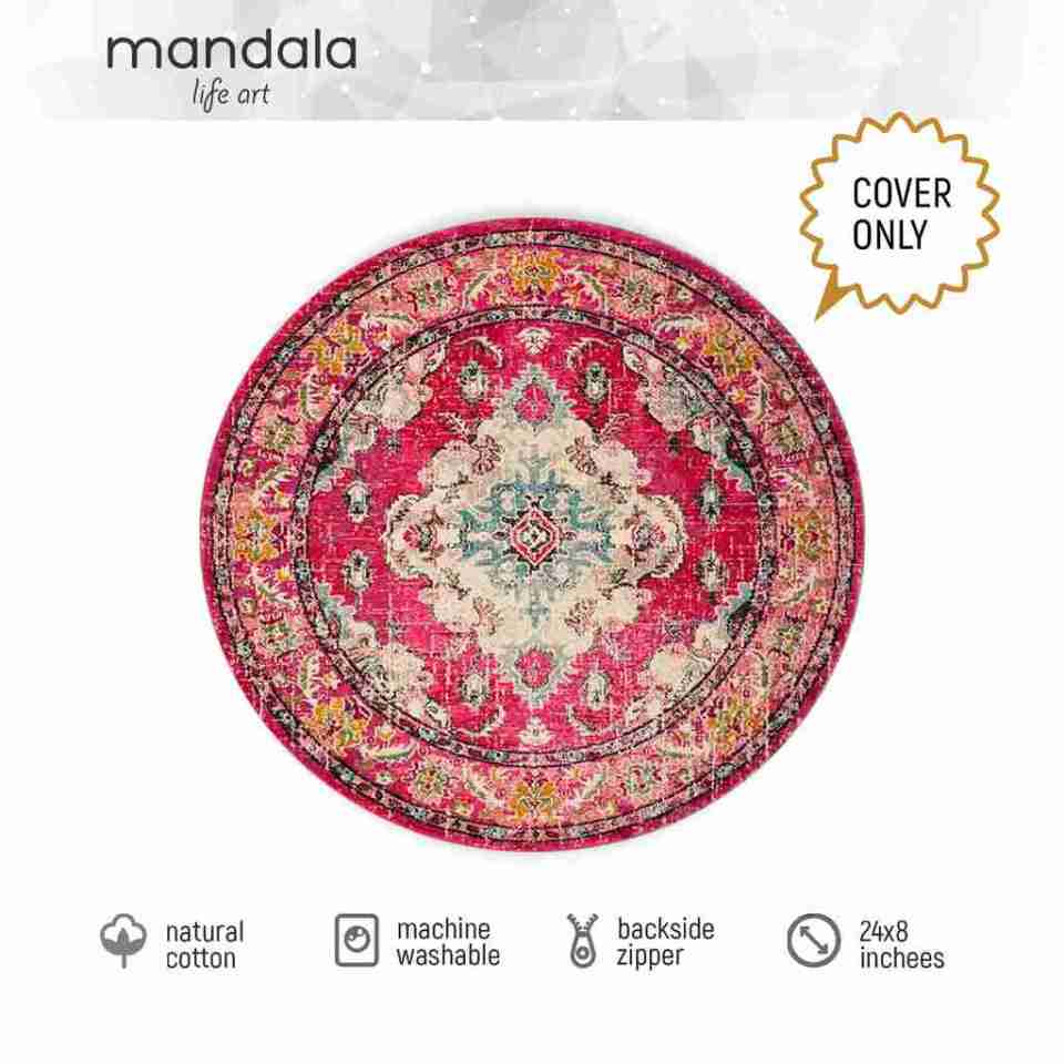 Bohemian Decor Floor Cushion Pouf Carpet Floor Pillow Boho Chic Large Living Room Bedroom chidren room 43