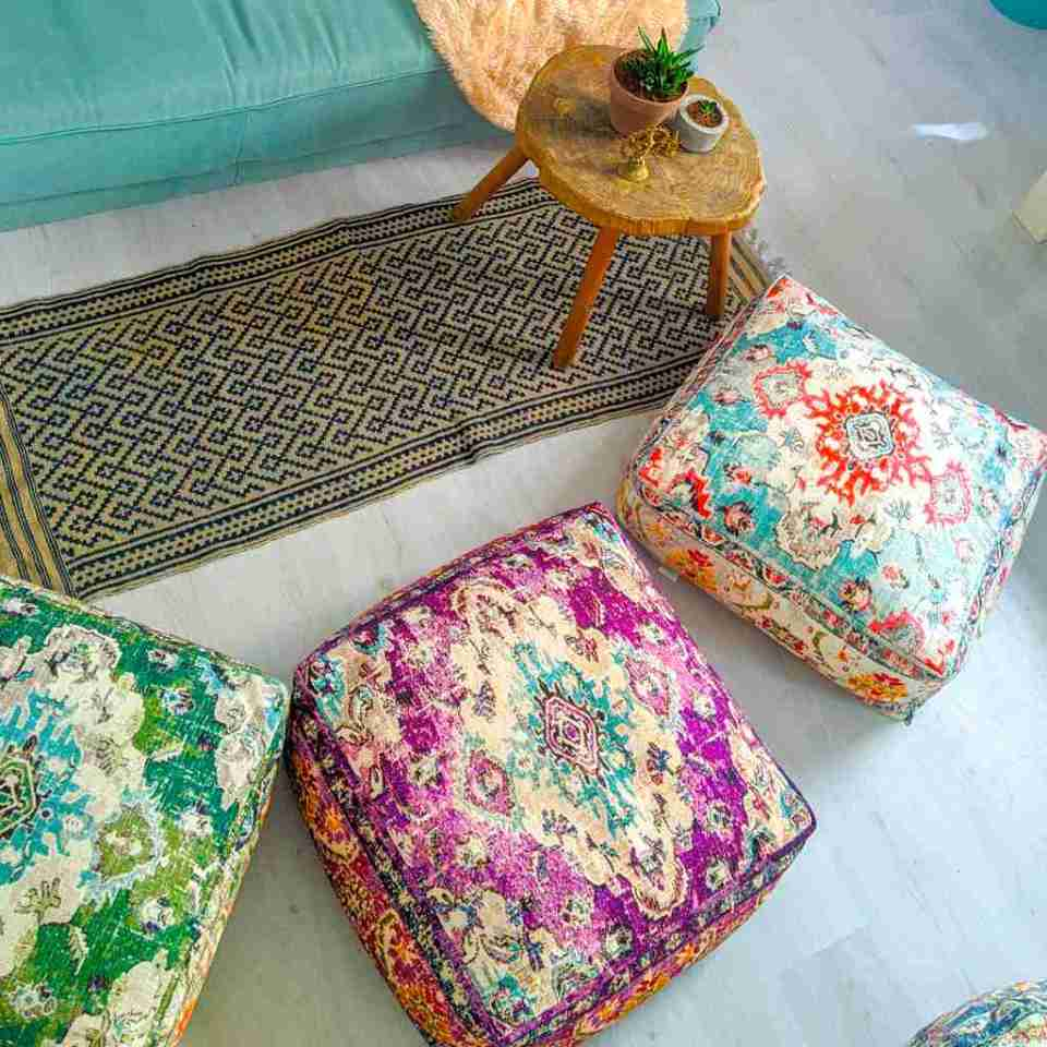 Bohemian Decor Floor Cushion Pouf Carpet Floor Pillow Boho Chic Large Living Room Bedroom chidren room 51