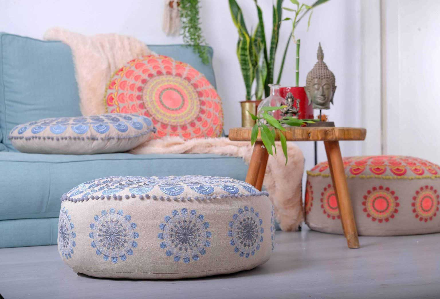 Bohemian Floor Cushion round