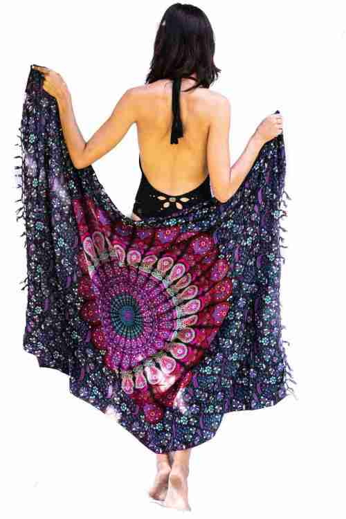 Bohemian Woman Beach Pareo Mandala Sarong Wrap Bikini Cover Up Tapestry Wall Hanging 21