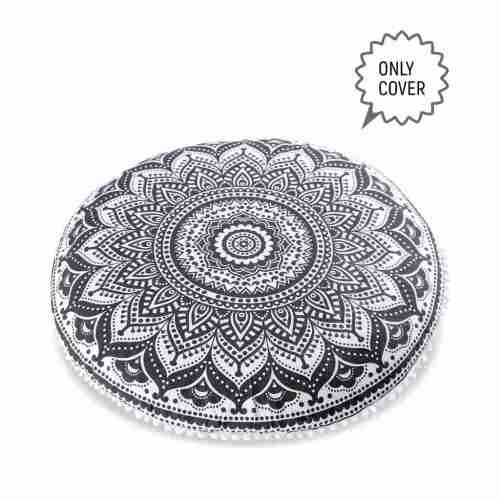 bohemian floor pillow mandala round cushion pouf 1