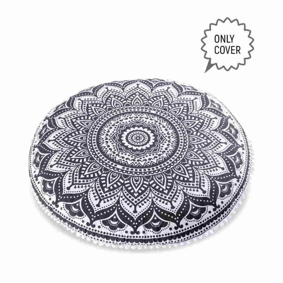 bohemian floor pillow mandala round cushion pouf 1