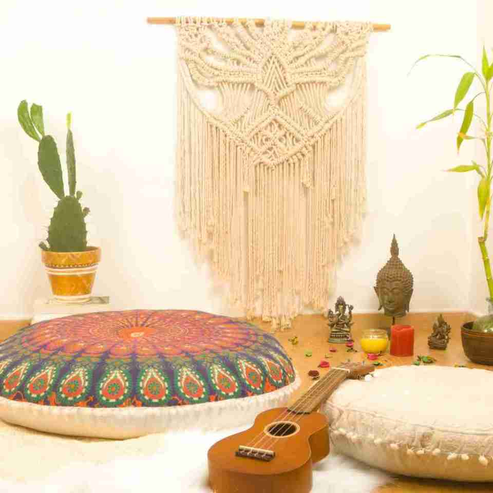 bohemian floor pillow mandala round cushion pouf 15