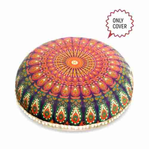 bohemian floor pillow mandala round cushion pouf 3