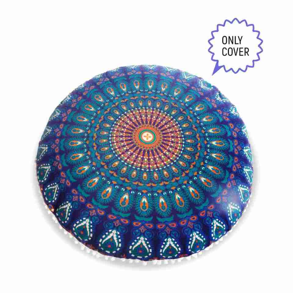 bohemian floor pillow mandala round cushion pouf 4