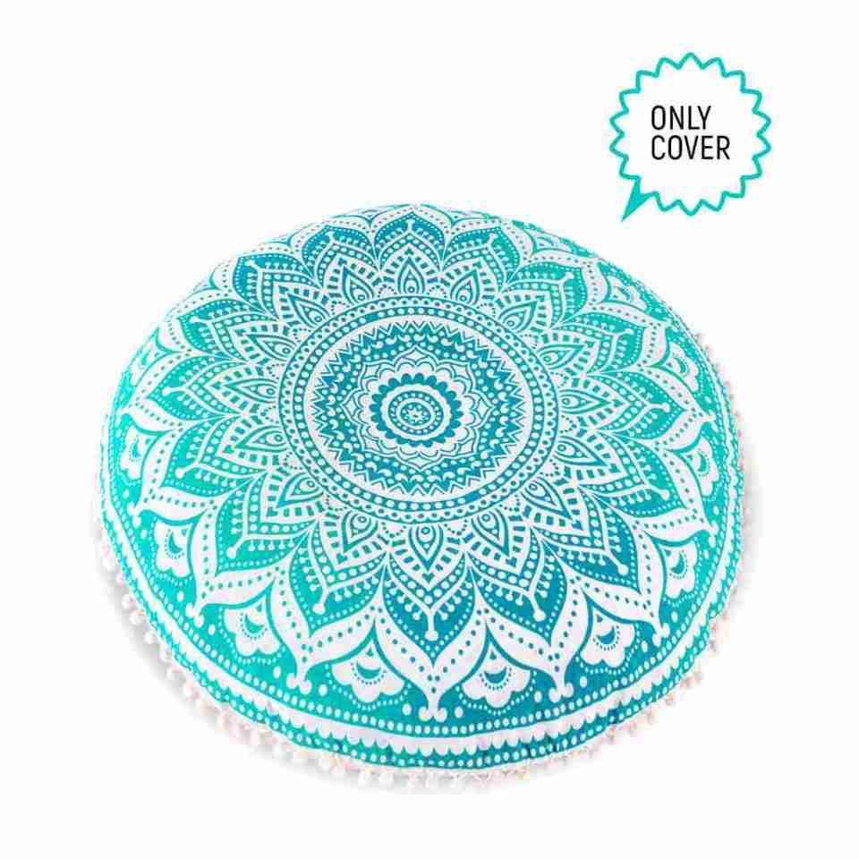 bohemian floor pillow mandala round cushion pouf 7