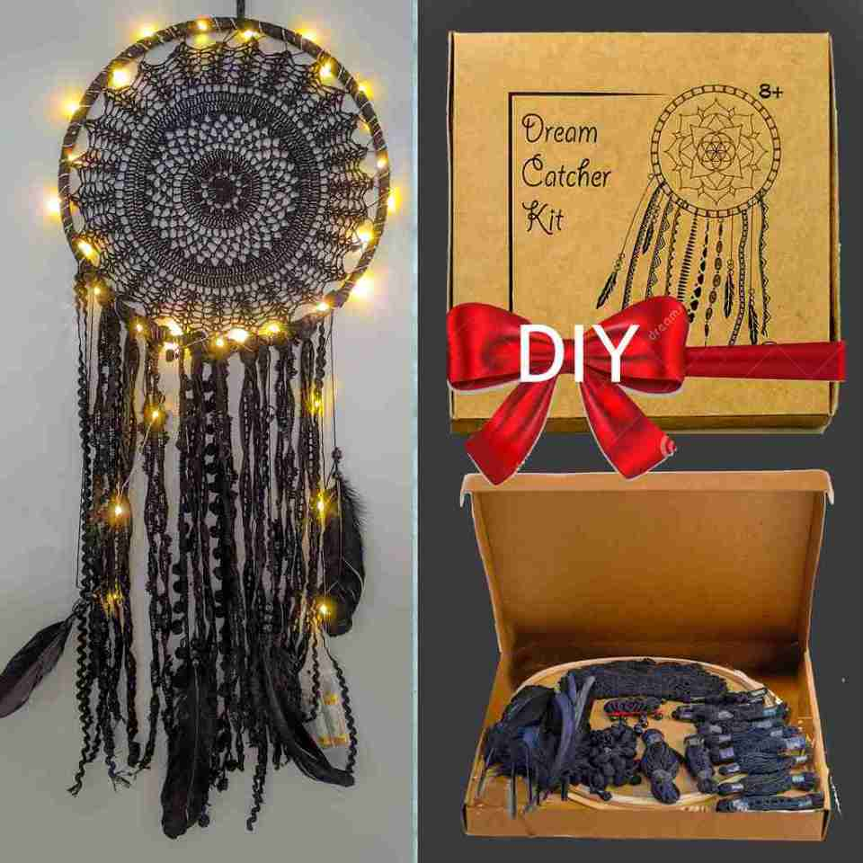 Black Dream Catcher DIY kit