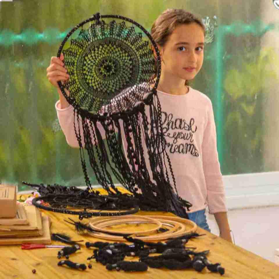 Black Dream Catcher DIY kit