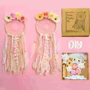 Flowers Boho Dream Catcher Kit